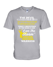 Spina Bifida Warrior V-Neck T-Shirt thumbnail