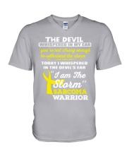 Sarcoma Warrior V-Neck T-Shirt thumbnail