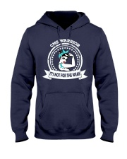 Congenital Myasthenia Syndrome Warrior Hooded Sweatshirt front