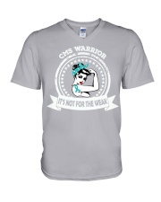 Congenital Myasthenia Syndrome Warrior V-Neck T-Shirt thumbnail