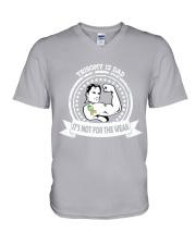 Trisomy 13 Dad V-Neck T-Shirt thumbnail