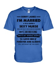 I'M MARRIED TO A SUPER SEXY NURSE V-Neck T-Shirt thumbnail