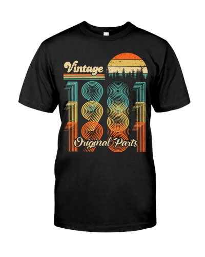 Vintage Sunset 1981 38th Birthday