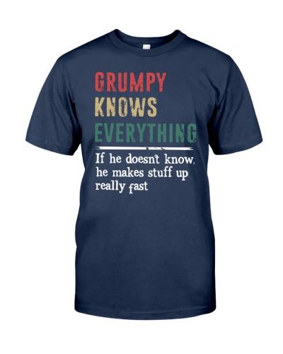 GRUMPY knows every thing gift tshirt