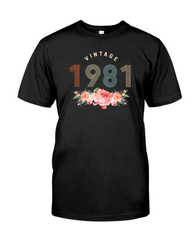 Vintage Classic Flower 1981 38th Birthday