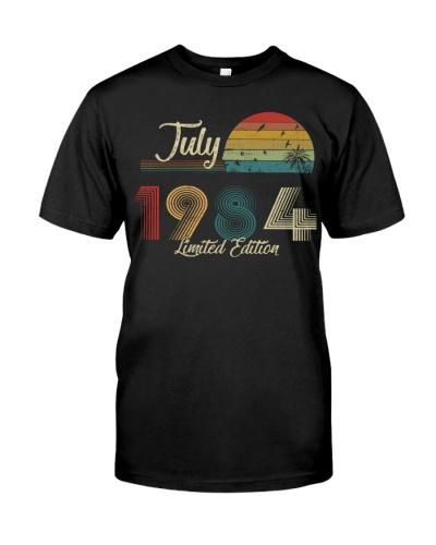 Vintage July Sunset Beach 1984