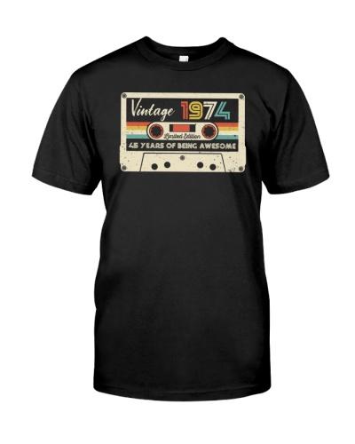 Vintage Cassette 1974 45th Birthday Gift