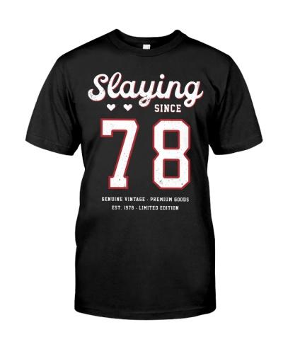 Vintage Slaying Since 1978 41st Birthday