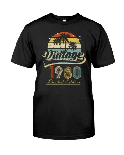 Vintage Retro Sunset 1980 39th Birthday gift-573