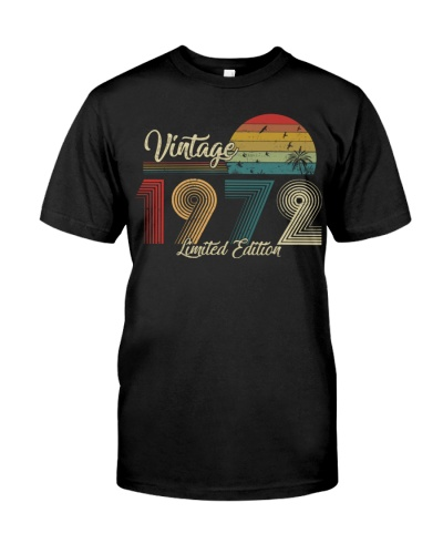 Vintage Sunset Limited Edition 1972 47th Birthday