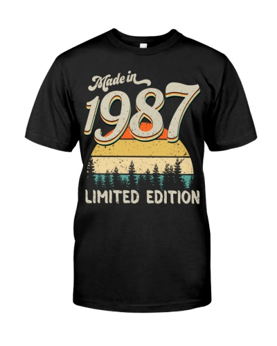Vintage Sunset Limited Edition 1987 32nd Birthday