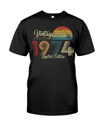 Vintage Sunset Limited Edition 1974 45th Birthday