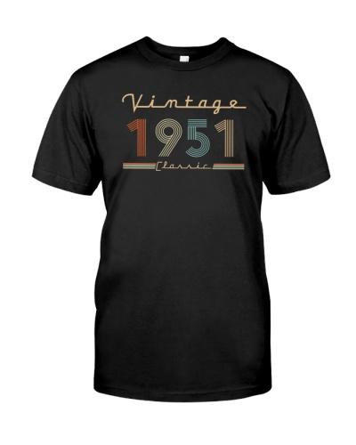 Vintage classic 1951 68th Birthday 439-plus size