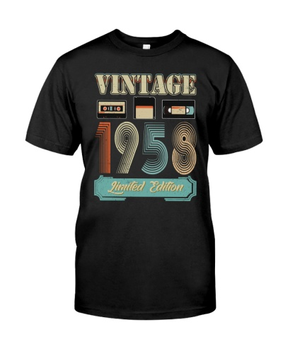 Vintage Cassette 1958 61st Birthday