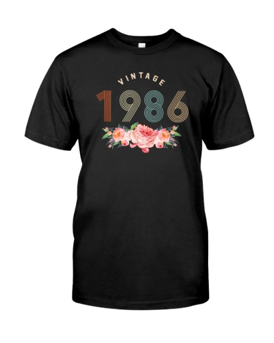 Vintage Classic Flower 1986 33rd Birthday