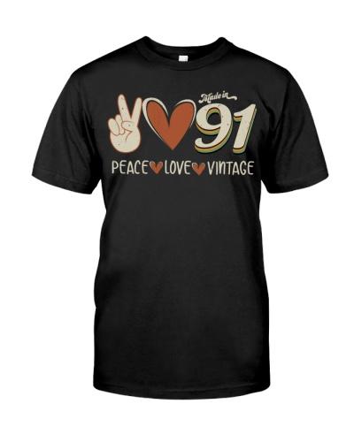 Peace Love Vintage 1991 28th Birthday