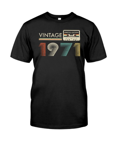 Vintage Cassette 1971 48th Birthday