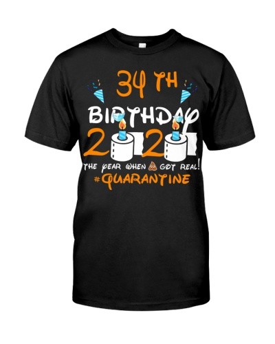 Quarantined 1986 34th Birthday