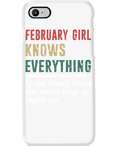 Funny February Girl knows everything-570 for her