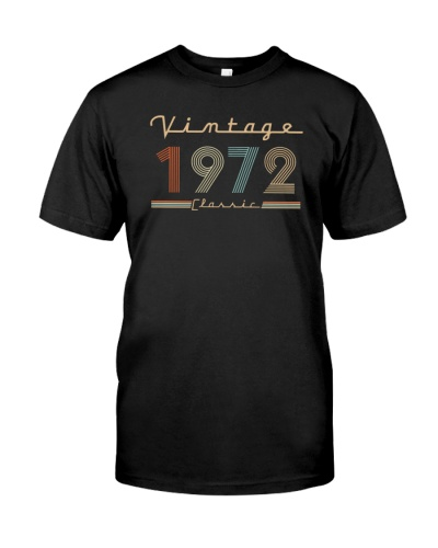 Vintage classic 1972 47th Birthday 439-plus size