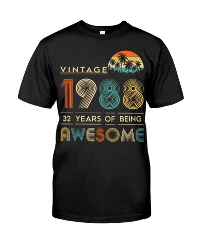 Vintage Awesome 1988 32nd Birthday