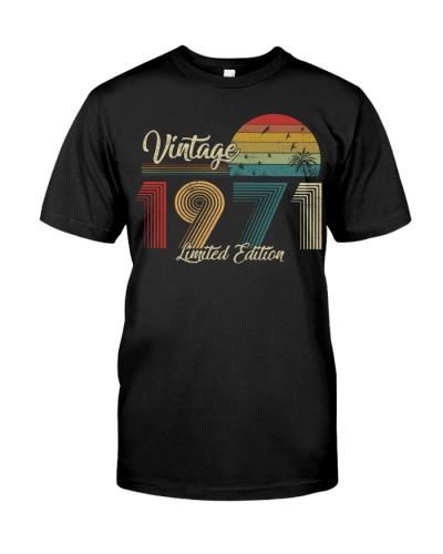 Vintage Sunset Limited Edition 1971 48th Birthday
