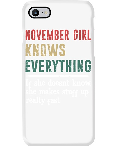 Funny November Girl knows everything-570 for her