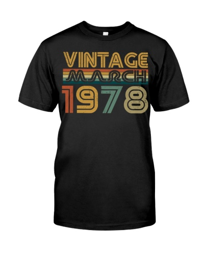Vintage Awesome March 1978 42nd Birthday