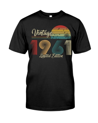 Vintage Sunset Limited Edition 1961 58th Birthday