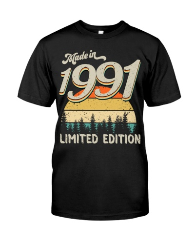 Vintage Sunset Limited Edition 1991 28th Birthday