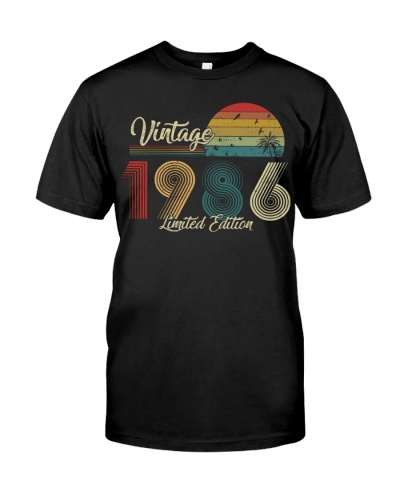 Vintage Sunset Limited Edition 1986 33rd Birthday