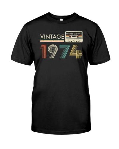 Vintage Cassette 1974 45th Birthday