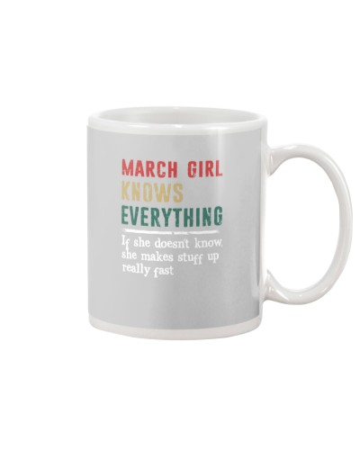 Funny March Girl knows everything-570 for her