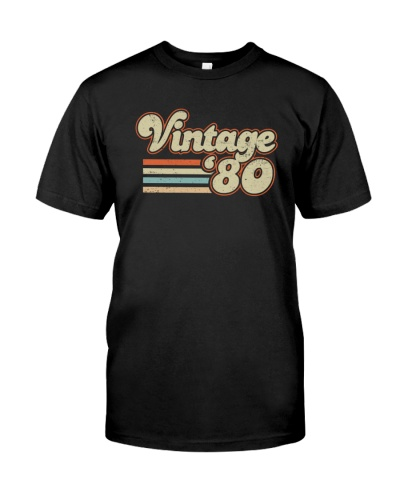 Vintage Retro 1980 39th Birthday Gift