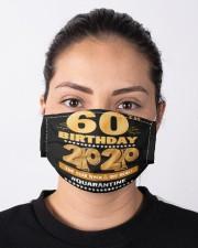 Quarantine 1960 60th Birthday Cloth face mask aos-face-mask-lifestyle-01