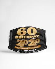 Quarantine 1960 60th Birthday Cloth face mask aos-face-mask-lifestyle-22