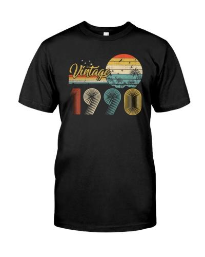 Vintage Sunset 1990 29th Birthday