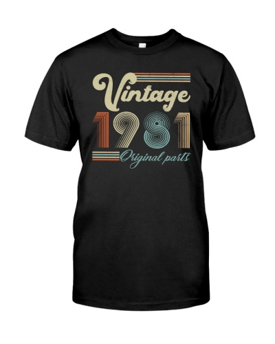 Vintage Classic 1981 38th Birthday Gift