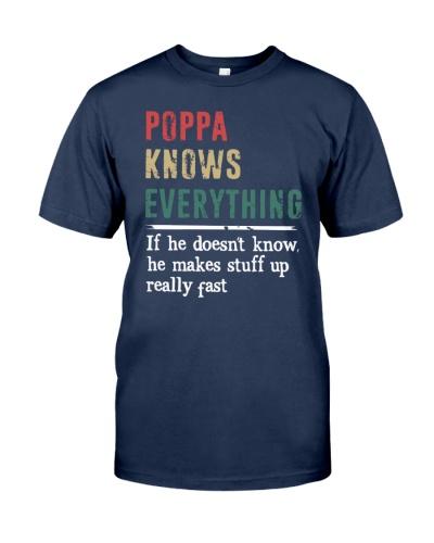 POPPA knows every thing gift tshirt