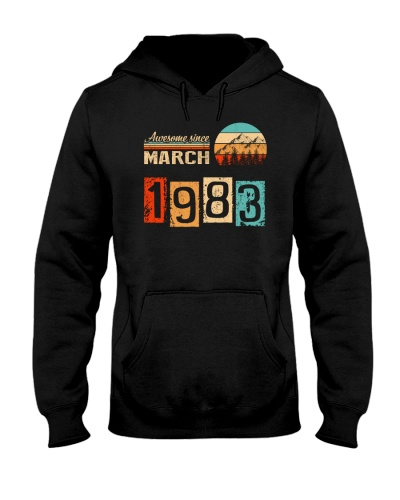 Vintage Awesome March 1983 37th Birthday