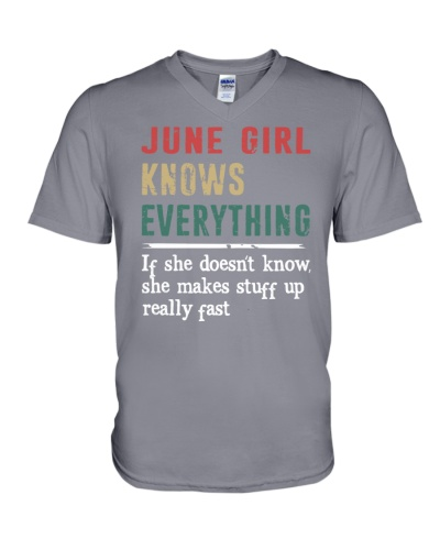 Funny June Girl knows everything-570 for her