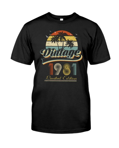 Vintage Retro Sunset 1981 38th Birthday gift-573