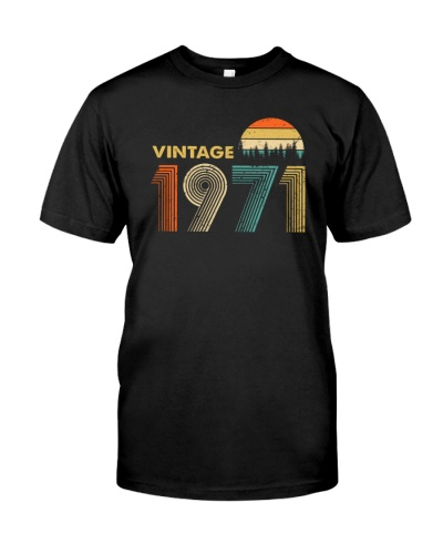Vintage Sunset 1971 48th Birthday gift-456