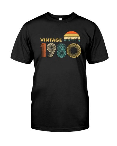 Vintage 1980 Sunset 39th Birthday 456-plus size