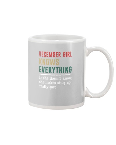 Funny December Girl knows everything-570 for her