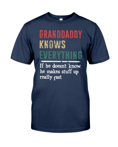 GRANDDADDY knows every thing gift tshirt