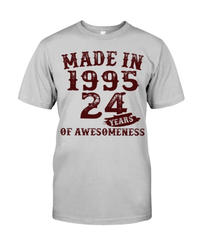 Vintage Awesome Made In 1995 24th Birthday