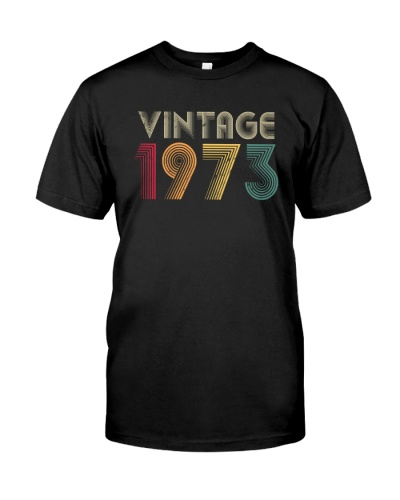 Vintage retro 1973 46th Birthday 12H Plus size