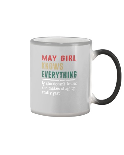 Funny May Girl knows everything-570 for her