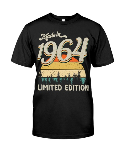 Vintage Sunset Limited Edition 1964 55th Birthday